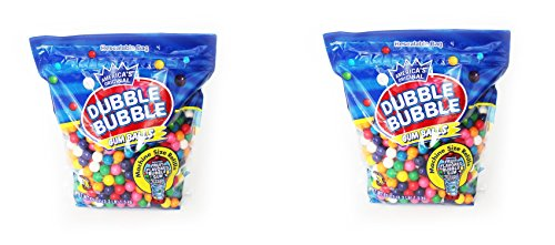 Dubble Bubble Gumball Refill, 8 Flavors, 3.3 lbs Pack Of 2