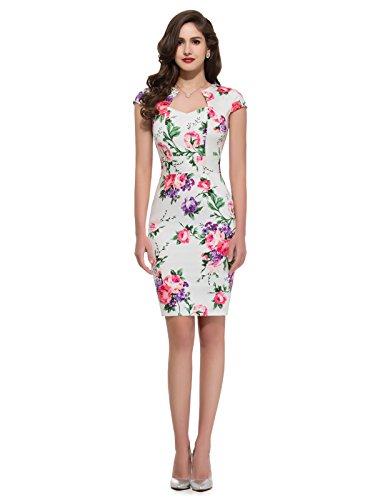 Retro-Bodycon-Pencil-Dresses-Cap-Sleeve-CL7597-Multi-Colored