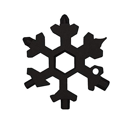 (Pendant Snowflake - 19 In 1 Multifunctional Opener Wrenches Combination Compact Portable Outdoor Snowflake Card - Sprinkler Iron Keychain Star 17mm Multitool Crystal Wrench Pendant Tool Silv)