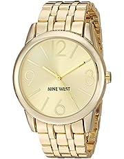 Nine West NW/1578CHGB reloj dorado con esfera champaña para mujer