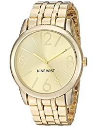 Nine West Women's NW/1578CHGB Champagne Dial Gold-Tone Bracelet Watch