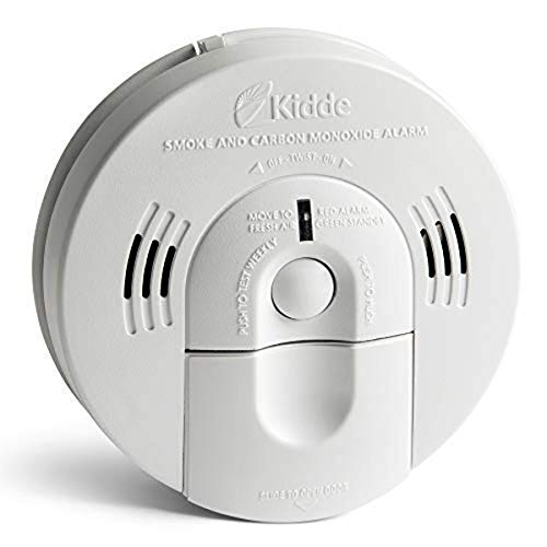 Kidde Smoke & Carbon Monoxide Detector, Hardwired, Interconnect Combination Smoke & CO Alarm with Battery Backup, Voice…