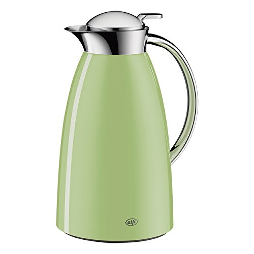 Alfi Gusto Glass Vacuum Lacquered Metal Thermal Carafe for Hot and Cold Beverages, 1.0 L, POWDER GREEN by Alfi