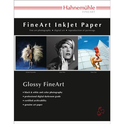 Hahnemuhle Fine Art Baryta 325, Ultra Smooth High Gloss, Bright White Inkjet Paper, 325gsm, 17x22