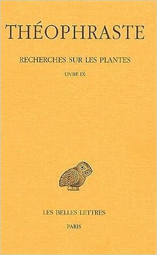 Livres gratuits Recherches sur les plantes. Tome V : Livre IX pdf ebook