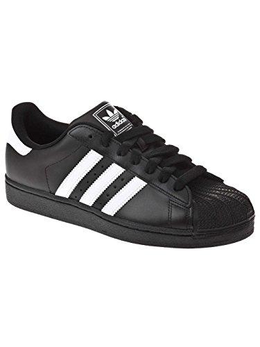 Hombre Adidas II Blanco M Negro Zapatillas Superstar para qTZxUwTFX