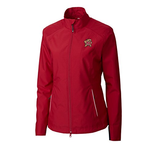 (Cutter & Buck Adult Women CB Weathertec Beacon Full Zip Jacket, Cardinal Red, Small )
