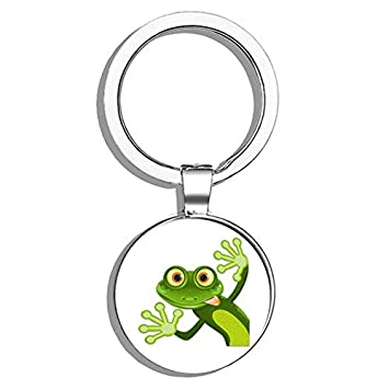 FROG Toad Amphibian Tree Animal Keyring Keychain Key Fob Stainless Steel