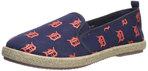 - FOCO MLB Detroit Tigers Women's Espadrille Canvas Shoes, Medium, Team Color