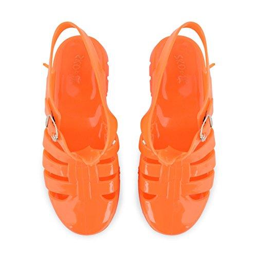 Footwear Sensation - Sandalias de vestir para niña AB61 Orange