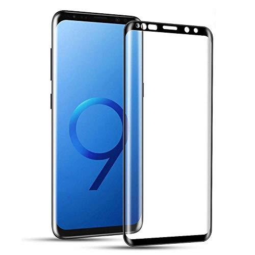 Galaxy S9 Plus Screen Protector Glass, 3D Curved Dot Matrix Full Screen Samsung Galaxy S9 Plus Tempered Glass Screen Protector (6.2) (Case Friendly) -2 Packs