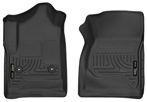 (Husky Liners 52741 Black Front Floor Liner (Fits 14-17 Silverado STD Cab), 1 Pack)