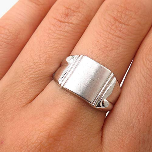 - VTG Vargas Sterling Silver Blank Design Cigar Band Ring Size 7 3/4 Jewelry by Wholesale Charms