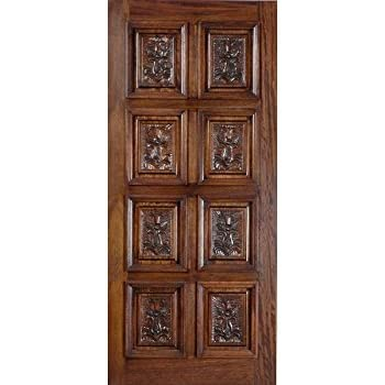 Eto Doors Paris Exterior Mahogany Wood 5 Panel Design Entry Door