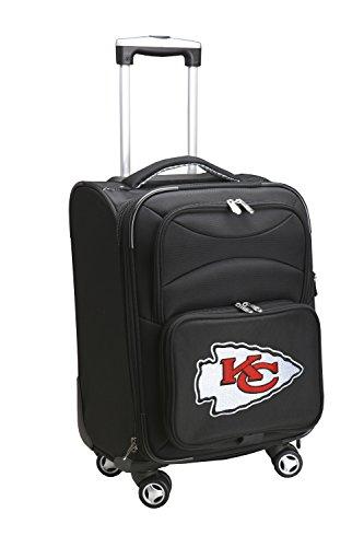 Denco NFL Kansas City Chiefs Domestic Carry-On Spinner, 20-Inch, Black 20' Nfl Football Fan