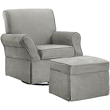 swivel glider chair. Baby Relax The Kelcie Nursery Swivel Glider Chair And Ottoman Set, Grey