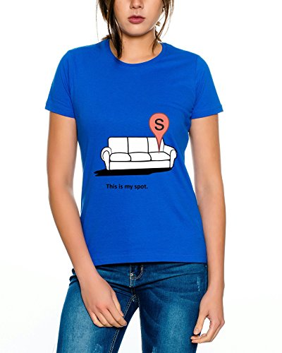 Big my Spot Bang Nerd Theory Sheldon donne T-shirt Royal Blu