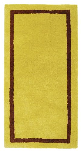 Minuteman International Mustard Contemporary Wool Hearth Rug (Minuteman Contemporary Hearth Rug)