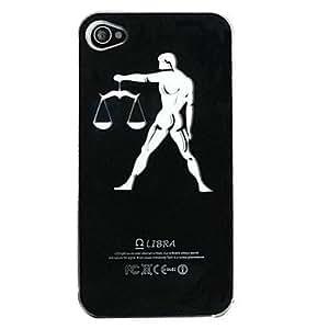 AES - New Sense Libra Design LED Flash Light Color Changing Hard Case for iPhone 5 , Black