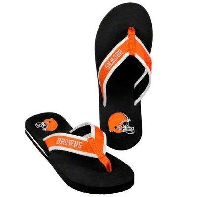 Cleveland Browns official NFL Unisex Contoured Flip Flop Beach Shoes Sandals slippers size XL forever collectibles by forever