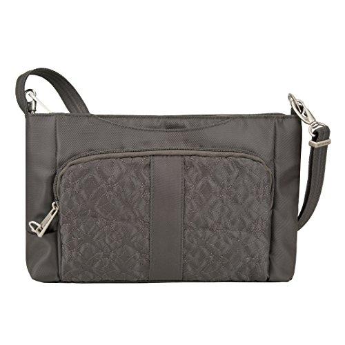 Travelon Anti-Theft Signature E/W Slim Shoulder Bag,  Truffle, One Size