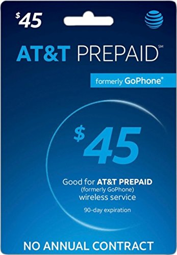 AT&T Prepaid Card $45 - AT&T Prepaid Refill Top-Up Card $45 by AT&T Prepaid (Image #1)