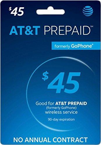 AT&T Prepaid Card $45 - AT&T Prepaid Refill Top-Up Card $45