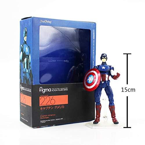 VIZIKS 15-19Cm Infinity Figma Man 199 226 271 216 PVC Figure Toy -Multicolor Complete Series Merchandise