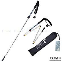Trekking Pole Collapsible, FOME SPORTS|OUTDOORS Foldable Collapsible Alpenstocks Ultralight Trekking Pole Climbing Stick for Travel Hiking One Year Warranty