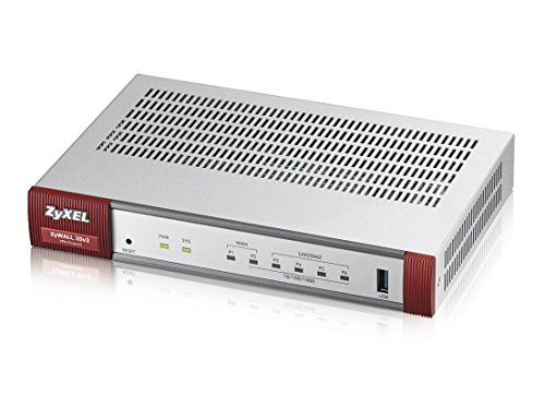 Zyxel Next Generation VPN Firewall with 1 WAN, 1 SFP, 4 LAN/DMZ Gigabit Ports [USG20-VPN] by ZyXEL
