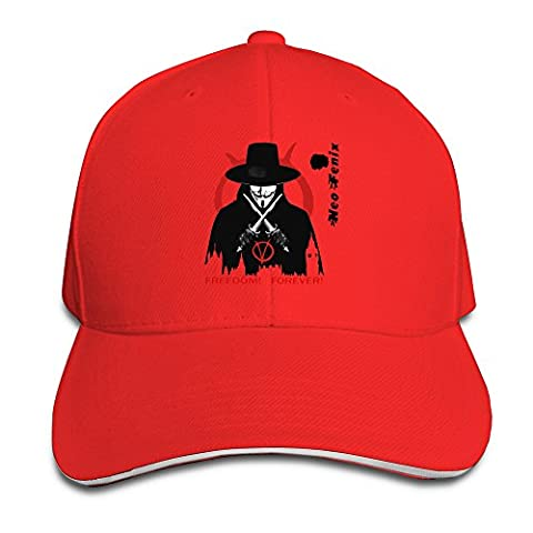 BOoottty V For Vendetta Tatoo Flex Baseball Cap Red (V Vendetta Steelbook)