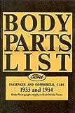 1933-1934 Ford Reprint Body Parts List: Car, Pickup, & Truck