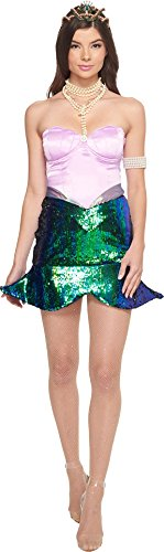 Sea Queen Sexy Mermaid Costumes - Melonhopper Women's Sea Queen Mermaid Costume Under The Sea Green