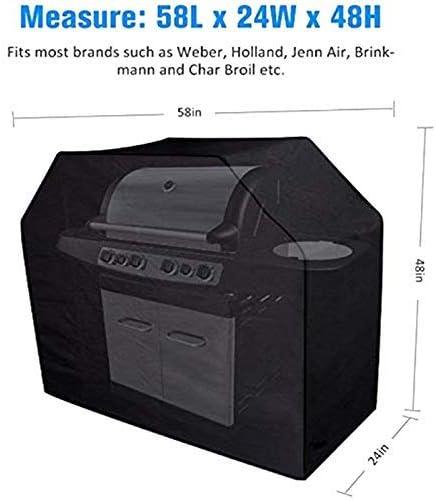 Housse de Barbecue Housse de Barbecue en Plein air 600D Oxford Tissu Étanche Housse de Gril à gaz (58 X 24 X 48 Pouces), Accessoires de Cuisine