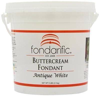 Fondarific Buttercream Antique White Fondant, 5-Pounds