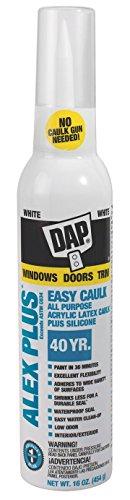 Dap 18725 Alex Plus White Easy Caulk 16-Ounce, 16 oz,