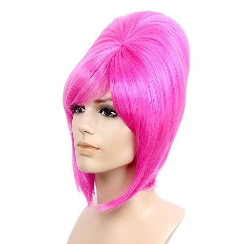 STfantasy Beehive Wigs for Women Halloween Cosplay Auburn Costume Hair w/Cap,17
