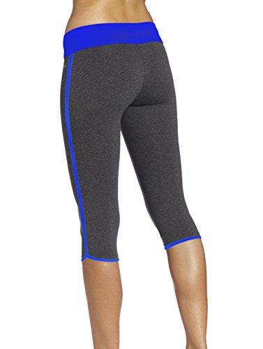 gris deporte Abusa large de Capri X de mujer Legging azul qq1gwAx