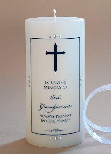 (Small Finial Cross Personalized 3x6 Memorial)