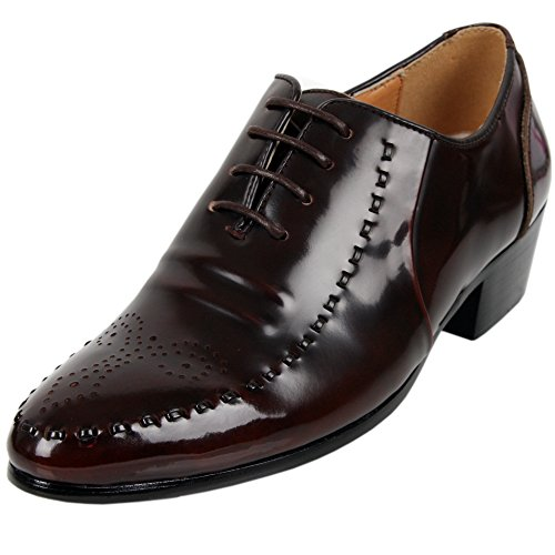 New Model Trend Fashion Leather Dress Oxfords Brown Mens Shoes P4vf5