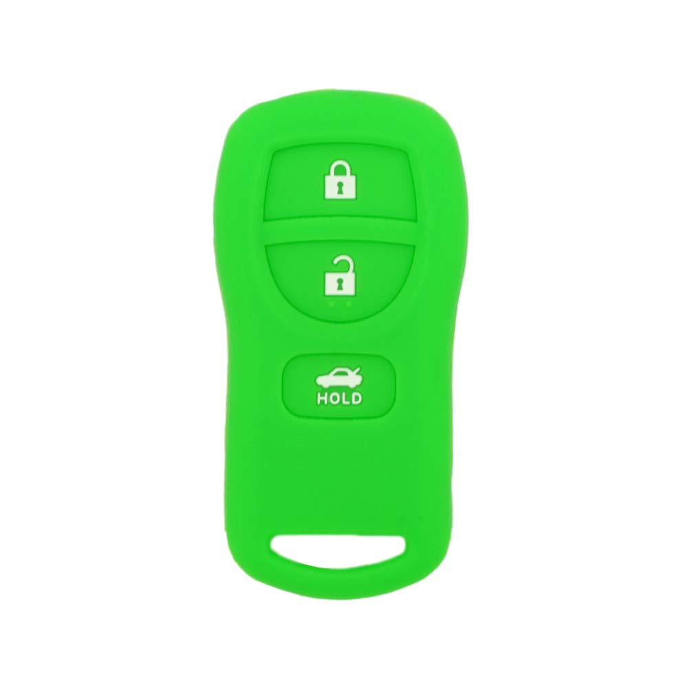 SEGADEN Silicone Cover Protector Case Skin Jacket fit for NISSAN 3 Button Remote Key Fob CV4509 Red