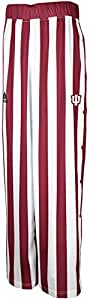 NCAA adidas Indiana Hoosiers Authentic On-Court Candy Striped Warm-Up Tear Away Pants - Crimson/Cream (Small)