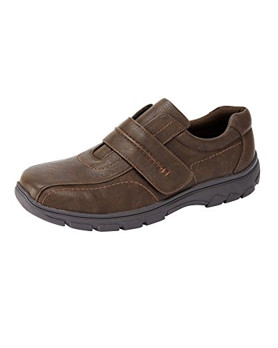 Cotton Traders Mens Cushion Comfort Adjustable Shoes E Fit Brown