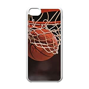 basketball Personalized Cover Case with Hard Shell Protection for Iphone 5C Case lxa#245302