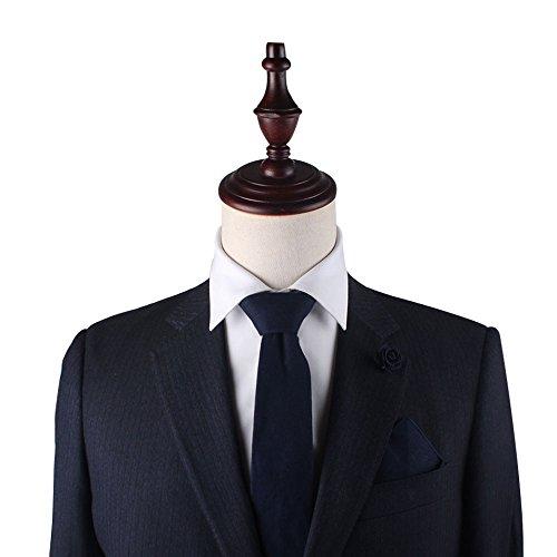 Squares Neckties Blush Wedding Skinny Cotton Ties Navy Bow Ties Matte Pocket Linen Ties YfxBwq