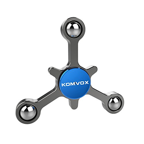 Titanium Alloy Silver Fidget Spinner, Creative Figit Hand Toy For 4-10 Years Old, 1-5 Mins Spinning Time, Cool Ideal Brithday Christmas Gifts for Boys, Girls, Teenages, Sisters