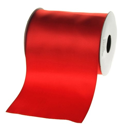 (Homeford Firefly Imports Double Faced Satin Ribbon, 4-Inch, 10 Yards, Red,)