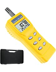 Portable Digital Temperature Humidity Indoor 9999ppm NDIR Sensor IAQ CO2 Monitor Wet Bulb Temperature (WB) Dew Point (DP) Tester CO2 Monitor for Indoor Air Quality (IAQ) Diagnosis