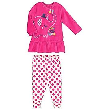 Pyjama bébé 2 pièces velours avec pieds Me and You - Taille - 9 mois (74 cm) Petit Béguin