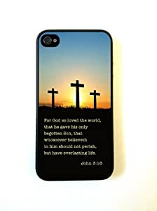 iPhone 4 Case Silicone Case Protective iPhone 4/4s Case Bible Quote John 3 16 by mcsharks